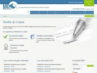 Modèles de contrats
