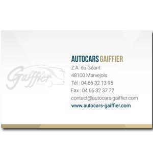 Carte de visite Autocars Gaiffier