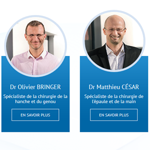 Dr Bringer et Dr César - Chirurgiens orthopédistes
